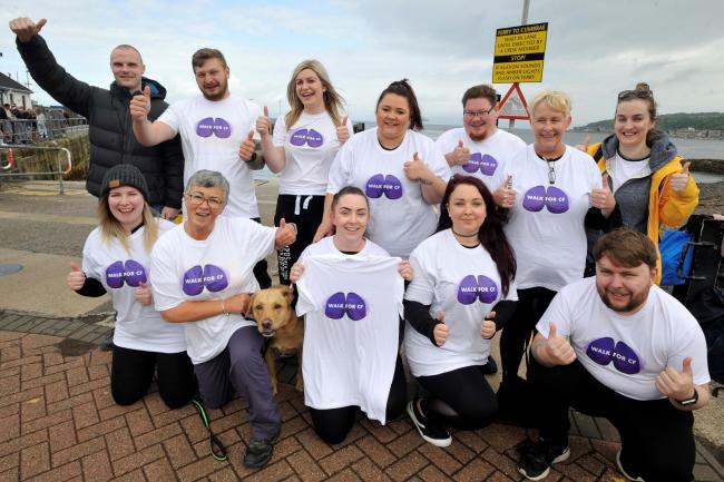 Amy Gilmour and friends in Largs  before