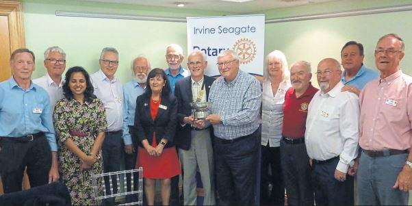 Irvine's Seagate win West of Scotland Rotary of the Year award