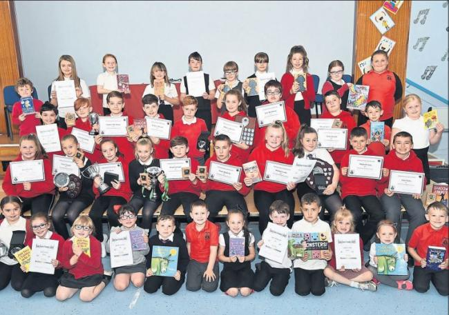 Pennyburn Primary prize winners congratulated by school