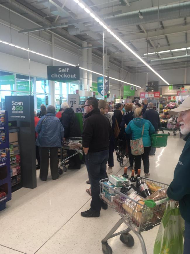 Shoppers face chaos as tills go down in Asda Irvine