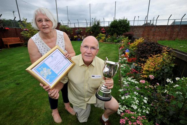 Old Caley Road couple win Cunninghame Housing Association's best garden award