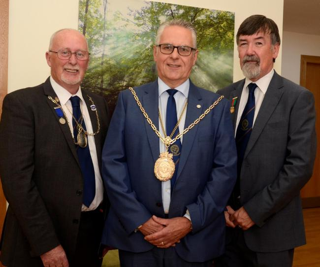 Irvine incorporated trades, wee pie, Master court, Deacon convenor Billy Dickson, Clerk David Whitelaw and Collector Gordon Craig.