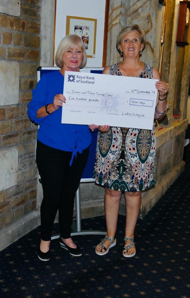 Irvine women bowlers raise £500 for charity