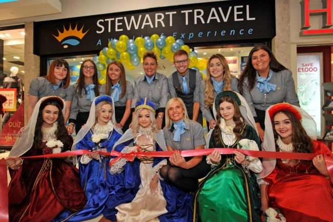 Marymass royals open Stewart travel, Irvine mall.