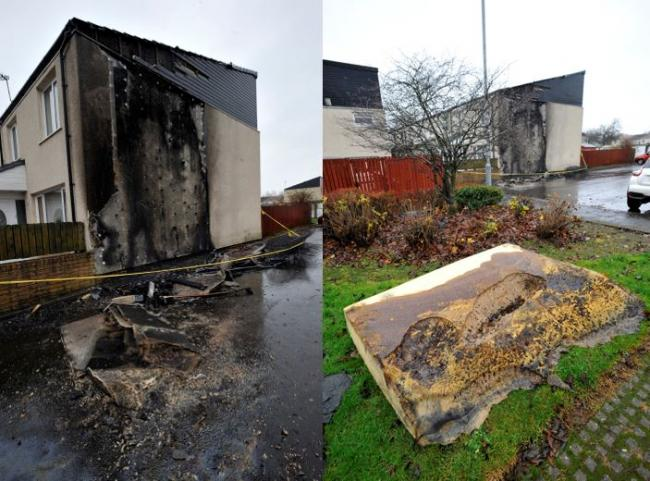Police hunt vile thugs who set fire to Pennyburn house