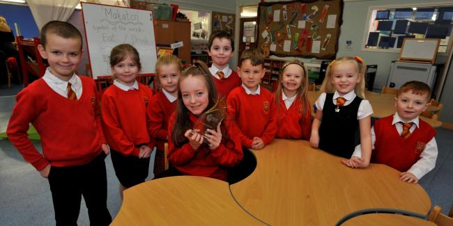 Pupils with St Mark's North Ayrshire Achieves award
