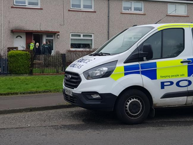 Police turn up in force over concern for person in Dickson Drive