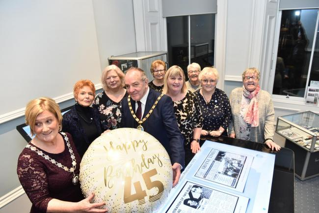Burns Lasses launch 45th anniversary exhibit in Townhouse