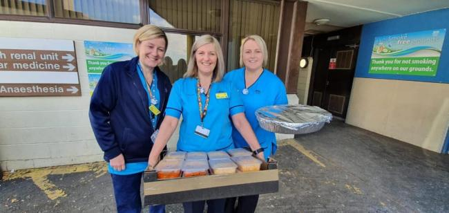 Irvine indian restaurant send free meals to frontline staff at Crosshouse Hospital