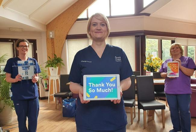Ayrshire Hospice were grateful for the fonation of two iPads.