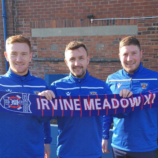 New Irvine Meadow XI FC management team.