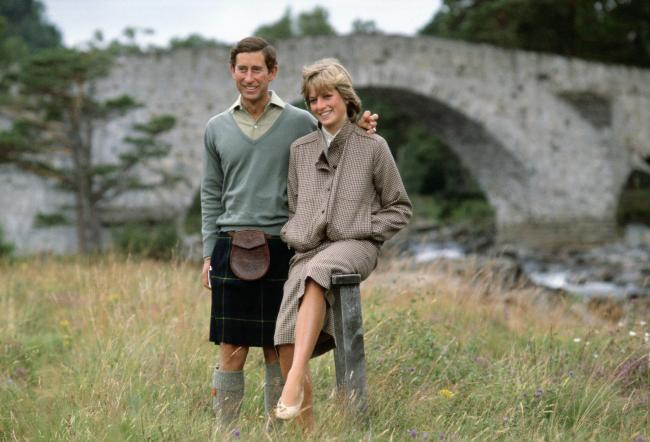 Prince Charles and Princess Diana in Balmoral