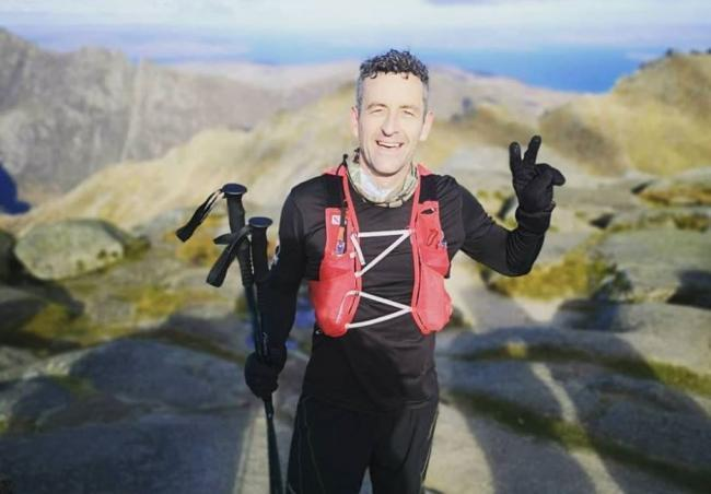 Kevin Brown on his first Goatfell adventure.
