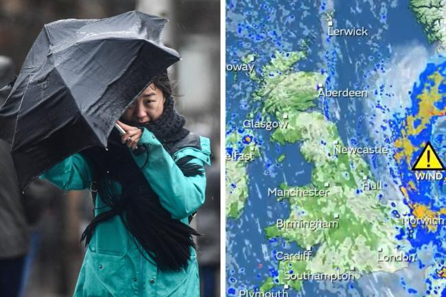 Coastal areas are forecast to be hit by strong wind and rain