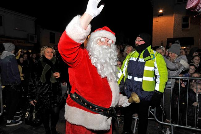 Flashback to an earlier Kilwinning Christmas lights switch on.