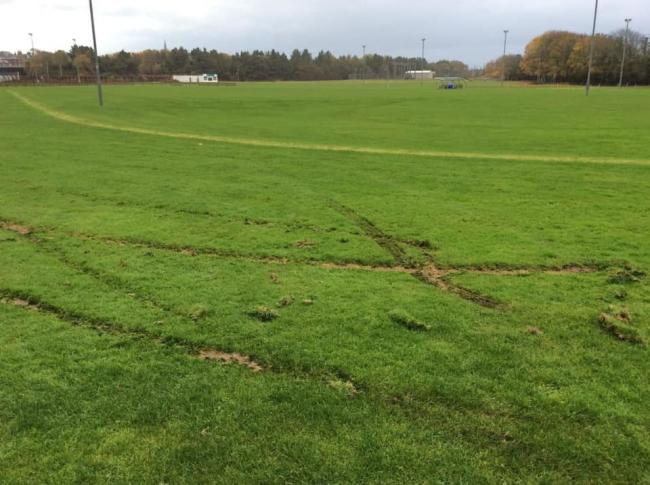Appeal after driver damages sports club grounds
