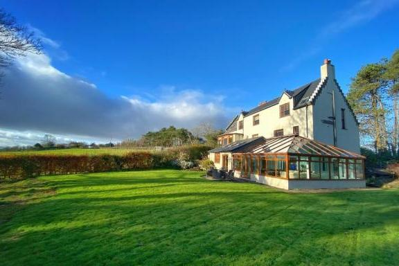 Ayrshire mansion with sports pavilion and luxury conservatory for sale