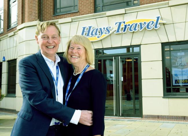 John Hays, Founder and Managing director, and Irene Hays, Chair of Hays Travel Group, at their HQ in Sunderland