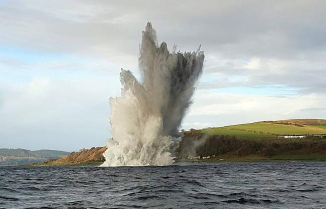 Huge WW2 mine caught by fishermen off Ayrshire coast