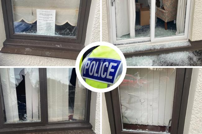 Teenage boys reported after windows smashed at North Ayrshire Cancer Care