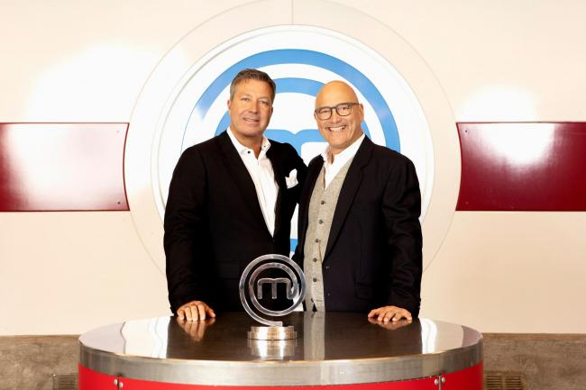 John Torode and Gregg Wallace with the MasterChef trophy