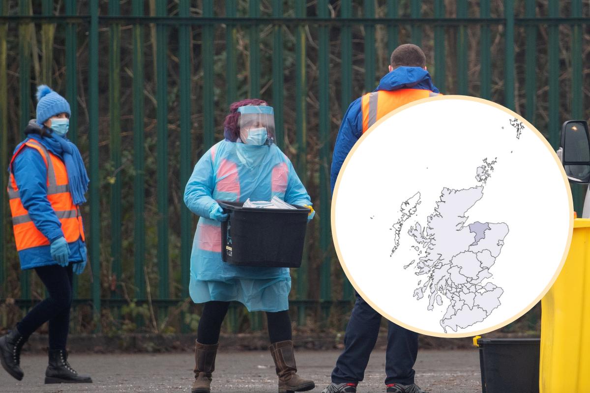 Covid Scotland: Places with most coronavirus cases this week