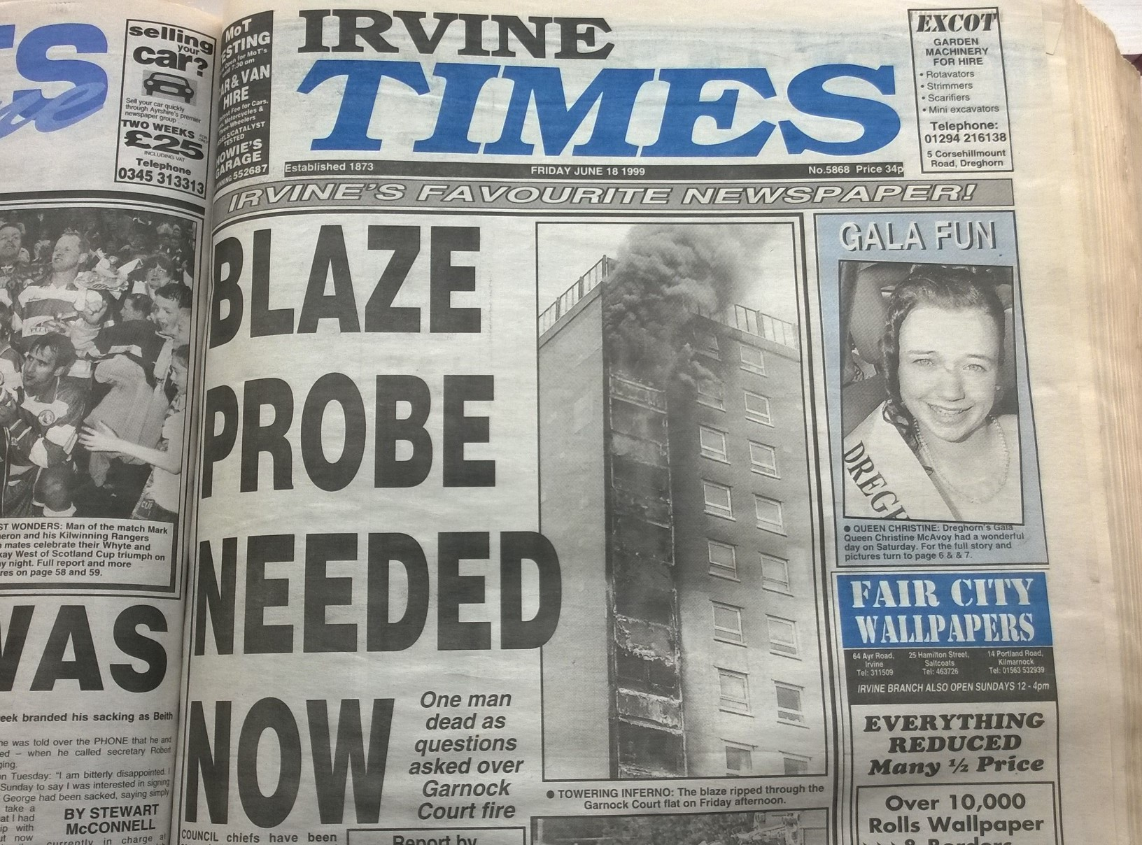 Irvine high flat fire to feature in BBC documentary