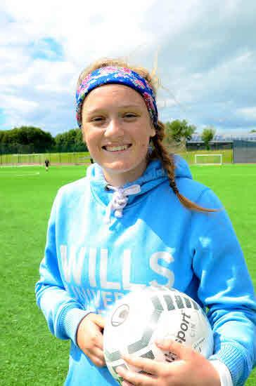 GLOBAL AMBITION: Erin Cuthbert is off to the World Cup..