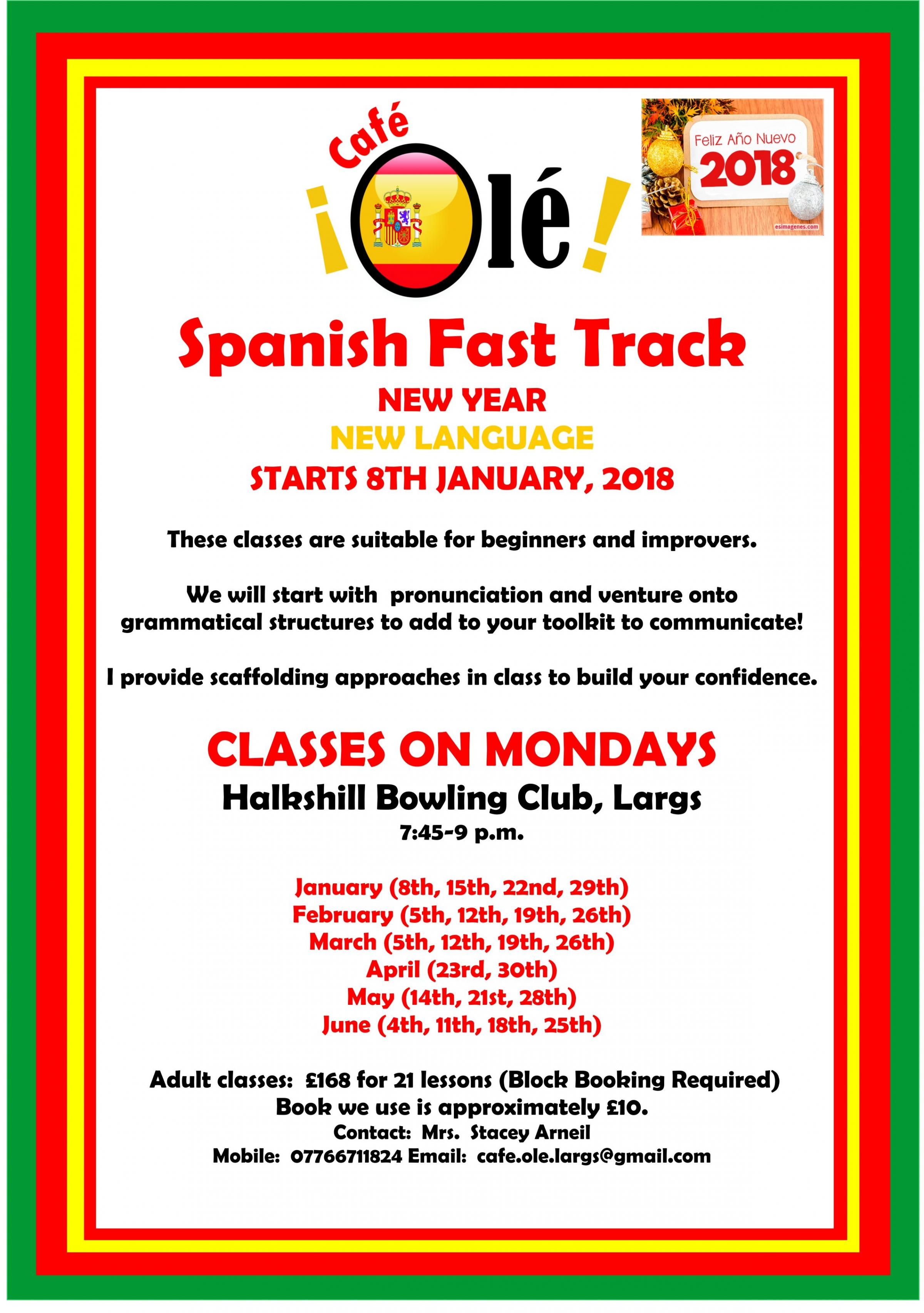 Spanish Fast Track for Beginners & Improvers