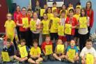 GRANT HELP: Irvine Junior Badminton Club are celebrating lottery funding.
