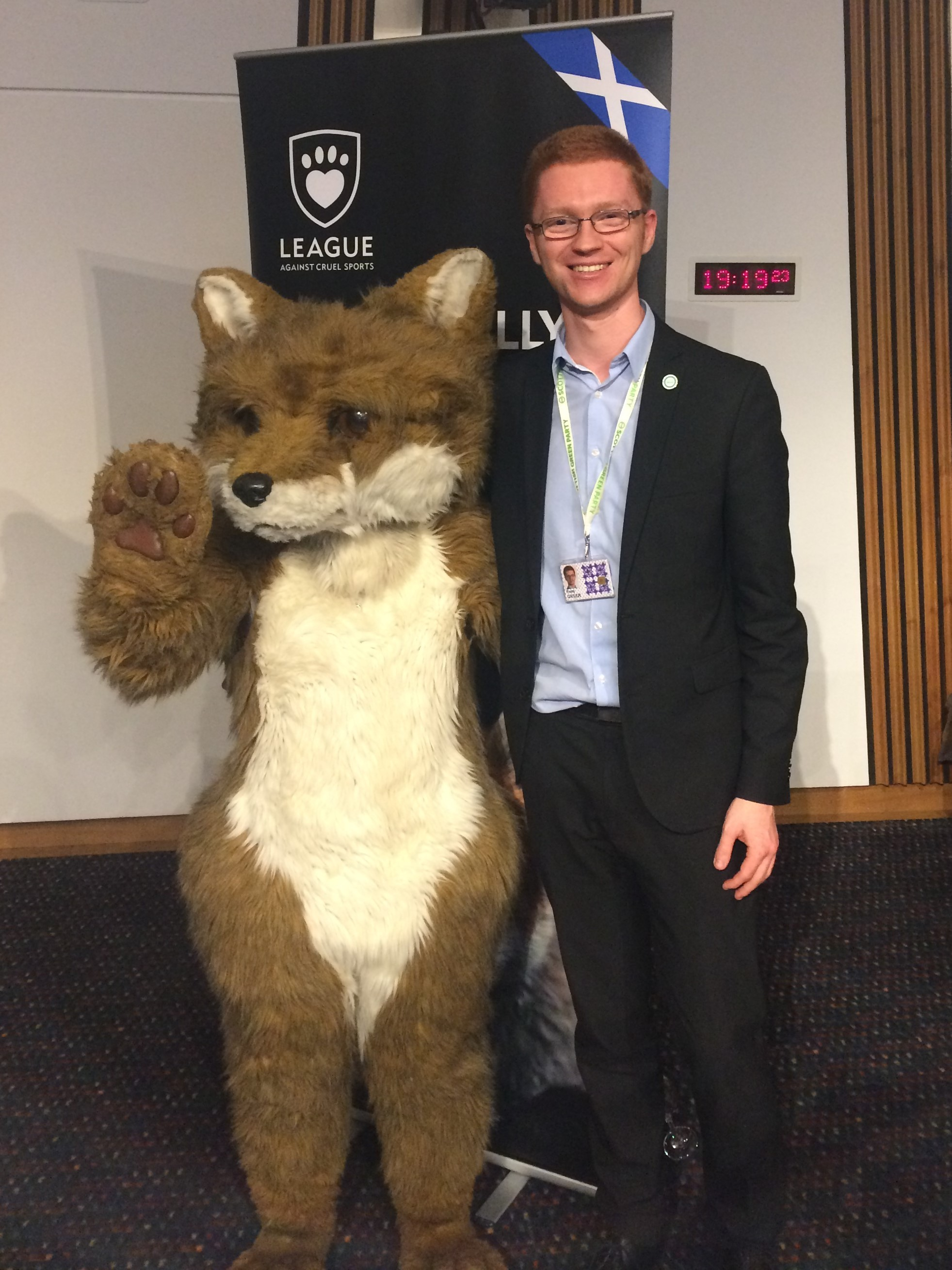 Ross Greer MSP supports a complete ban on fox hunting
