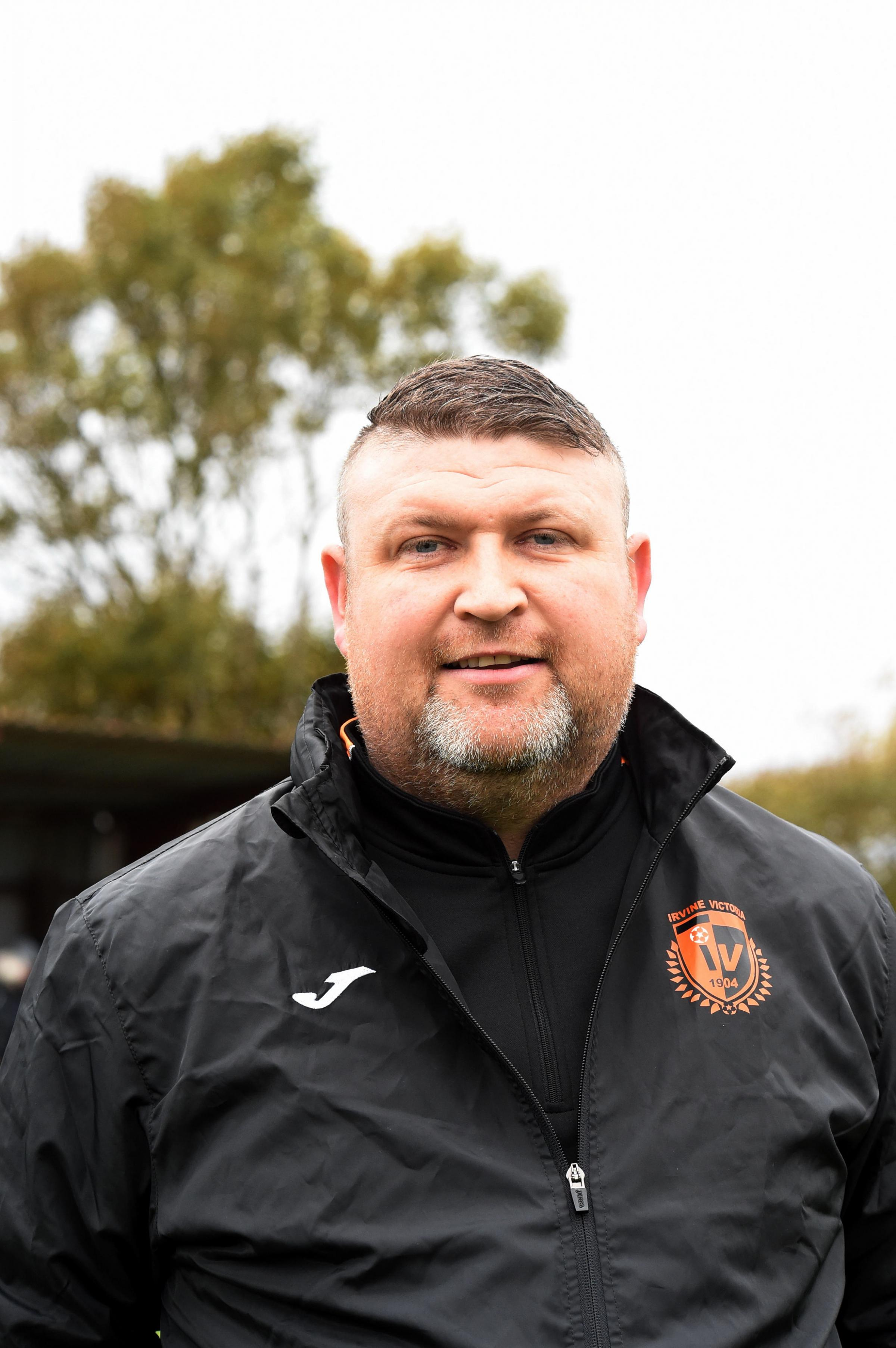 FIRM FOCUS: Irvine Vics boss Stevie Wilson expects a tough second half of the season.