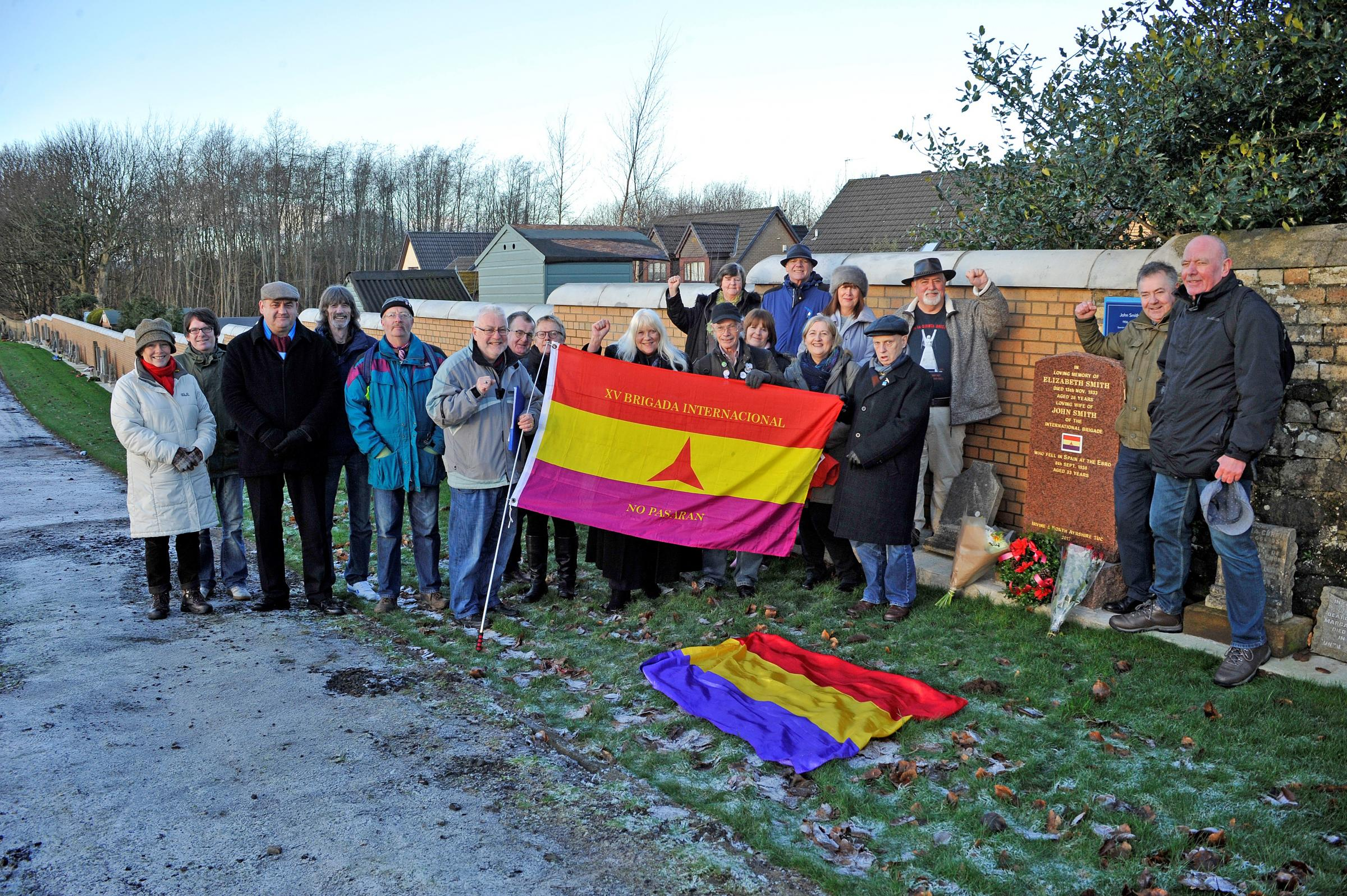 Memorial unveiled for Irvine man who fought and died in Spanish Civil War