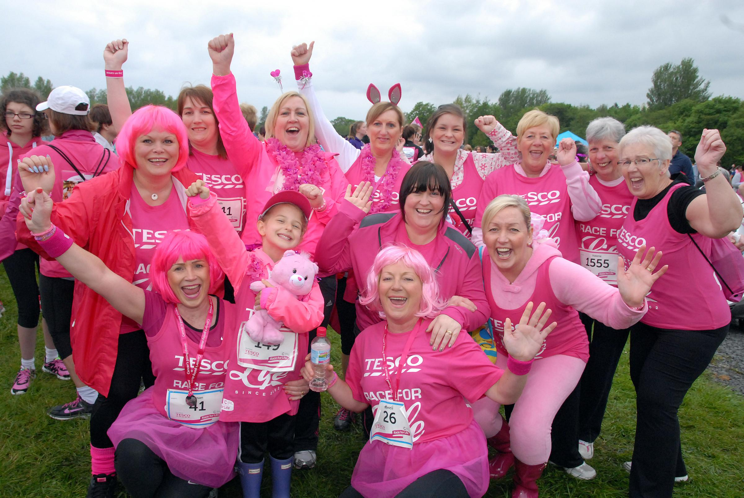 Mums urged to think pink and sign up for Race for Life this Mother's Day