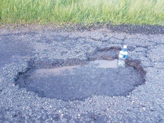 Pot hole figures TREBLE in just one year