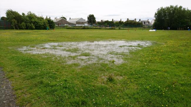 Woodlands Primary secures funding to fix waterlogged pitch