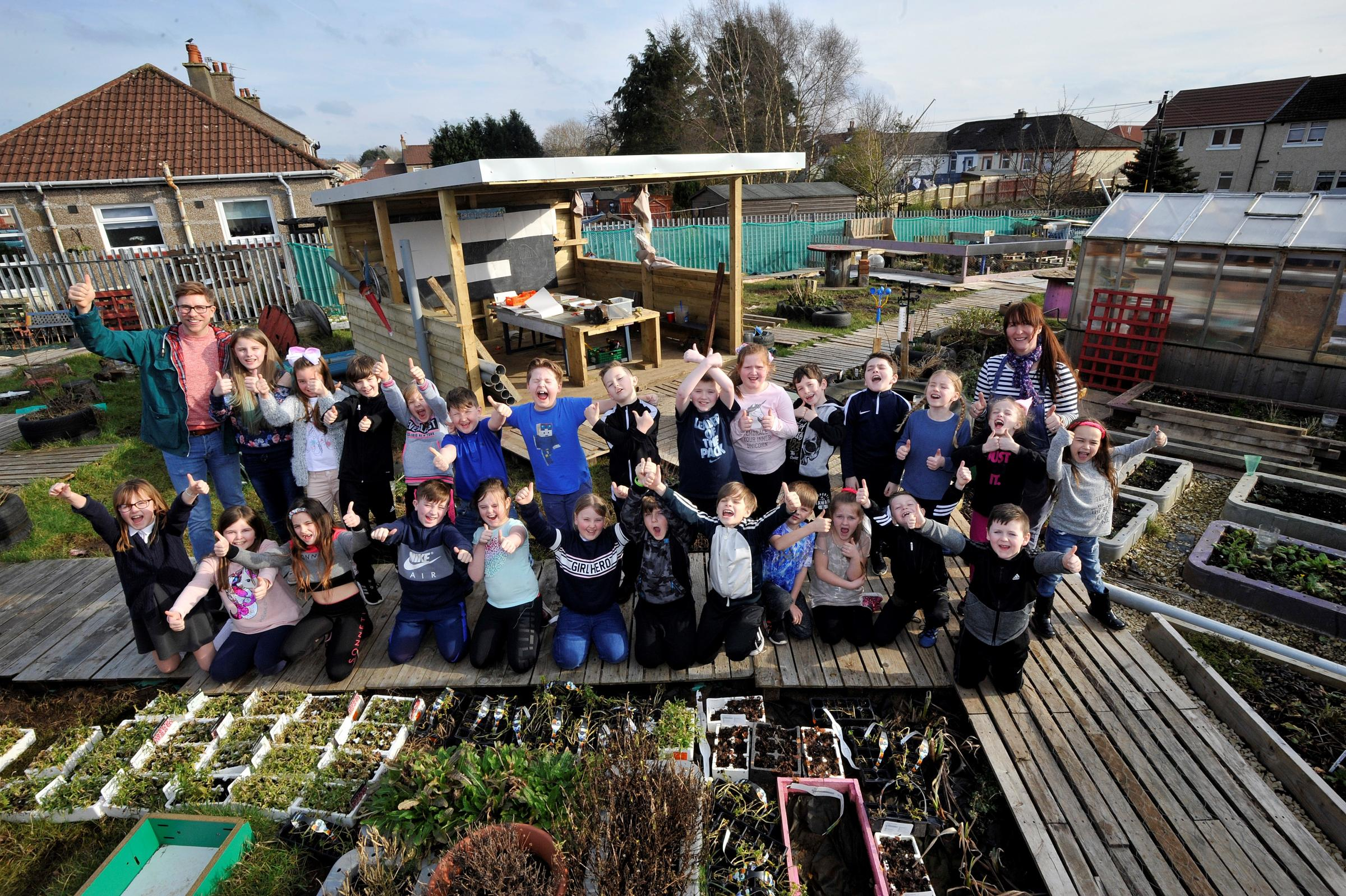 Corsehill pupils winners in national gardening competition