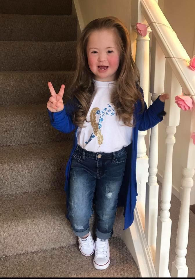 Irvine girl made UK ambassador for Down's syndrome charity