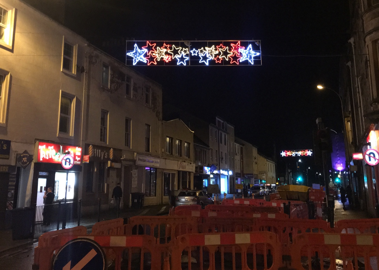 Fight over Irvine's Christmas lights after switch on sparked outrage