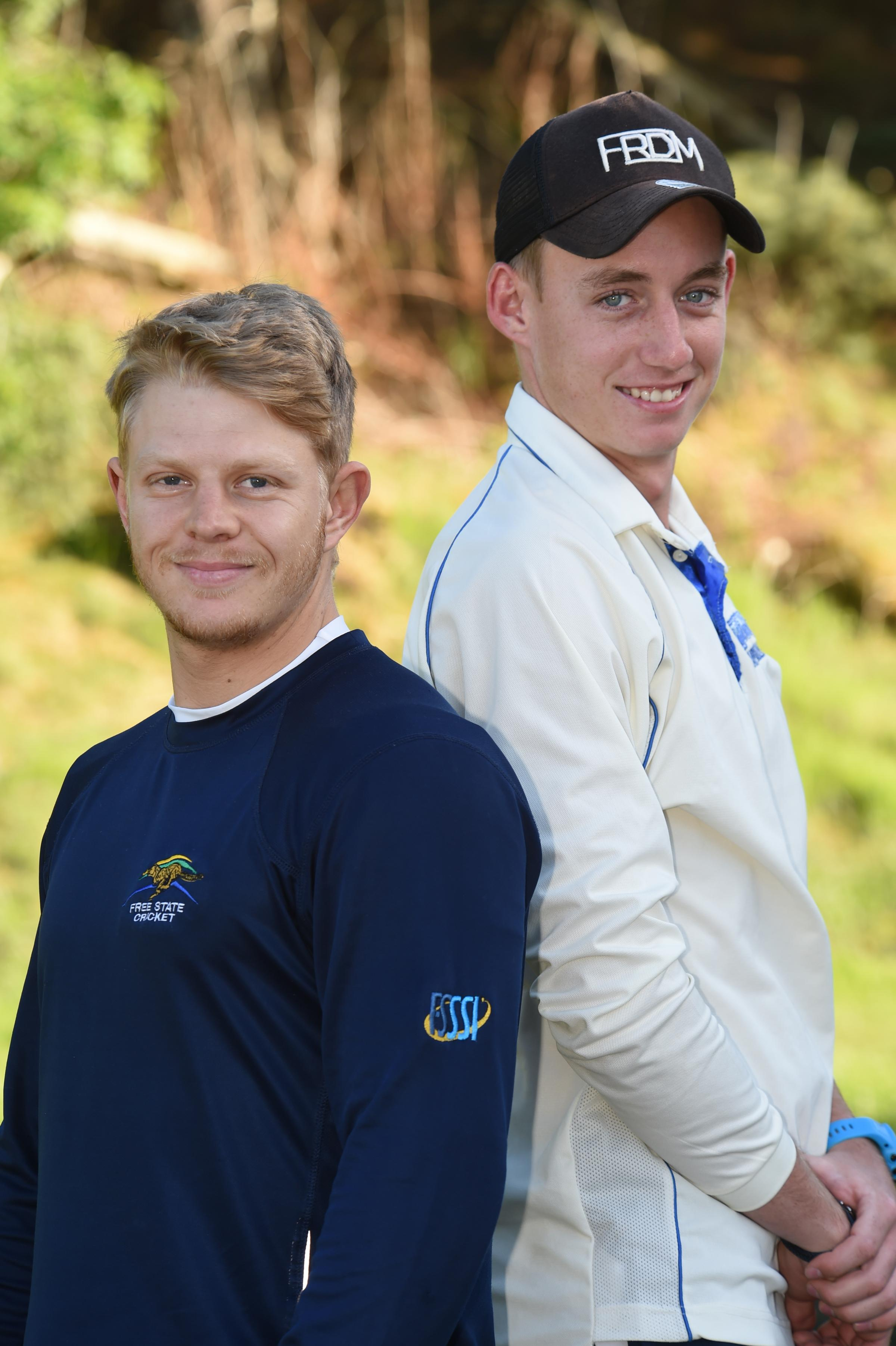 Irvine Cricket duo Koot Pienaar (left) and Bevan Carsle.
