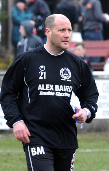 NEW BOSS: Brian McLuckie is in charge of  Irvine Vics