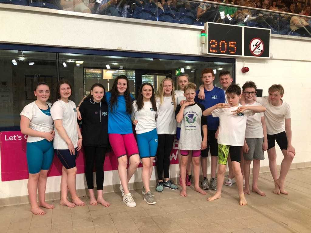 WEST WONDERS: The North Ayrshire team were in superb form at Tollcross International Swimming Centre