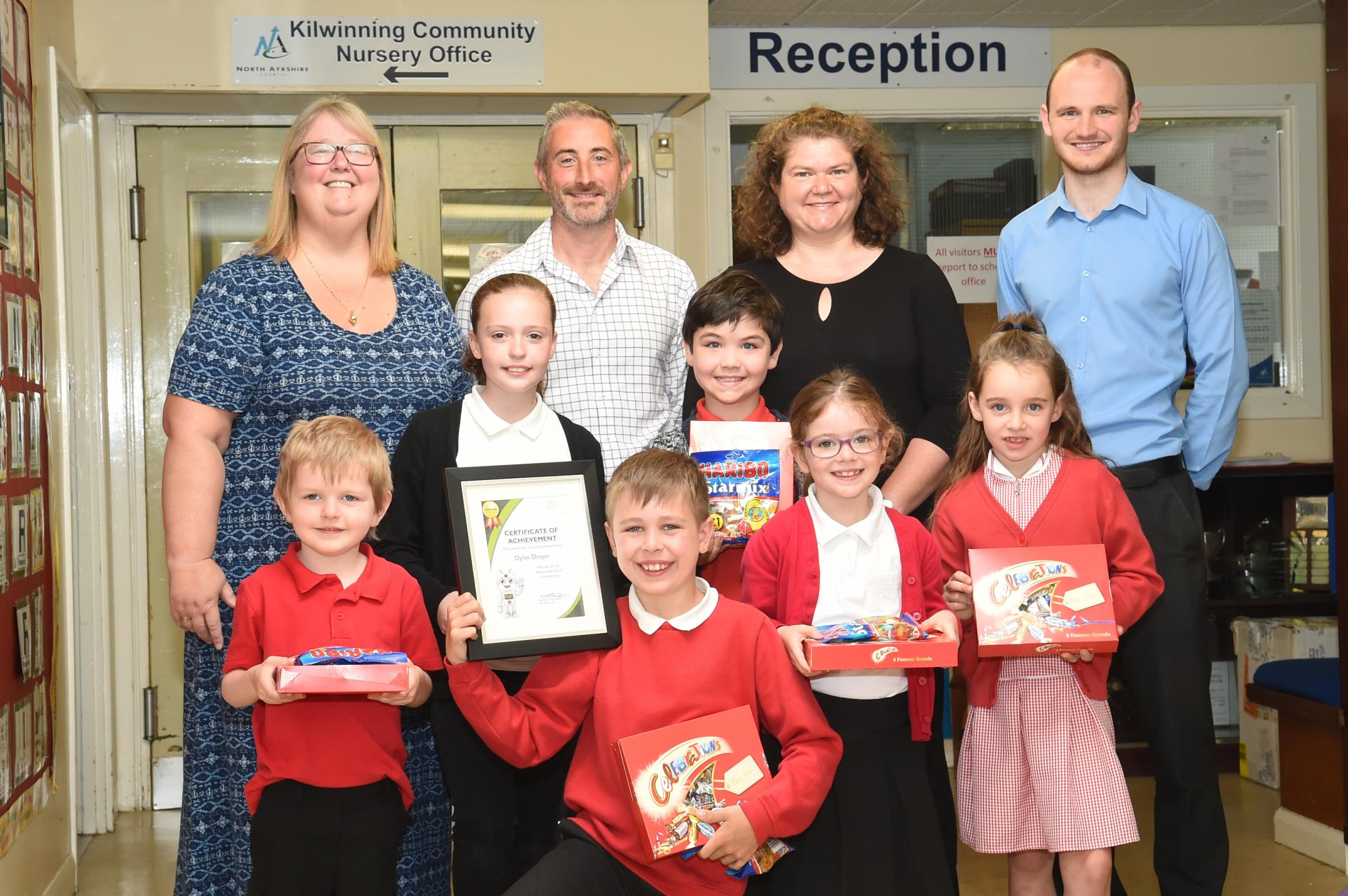 Prizes after Pennyburn pupil wins pharmacy robot naming competition