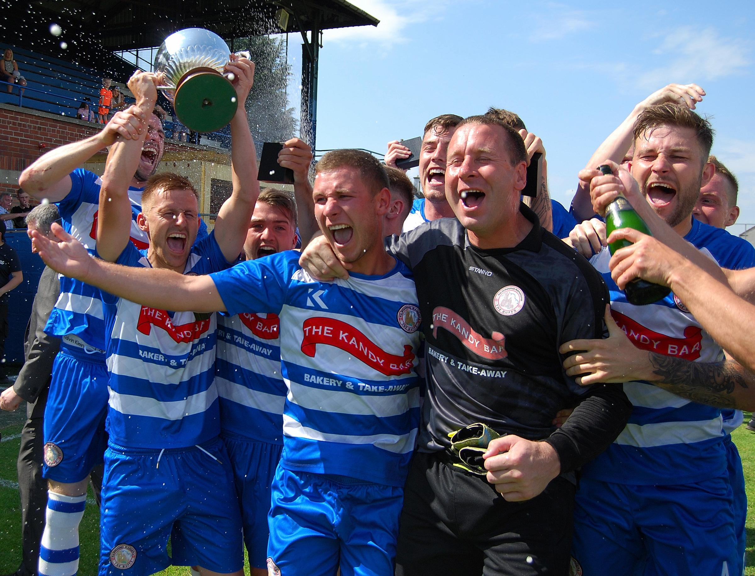 CELEBRATION TIME: Kilwinning Rangers ended the season on a high with the Ayrshire Weekly Press Cup.