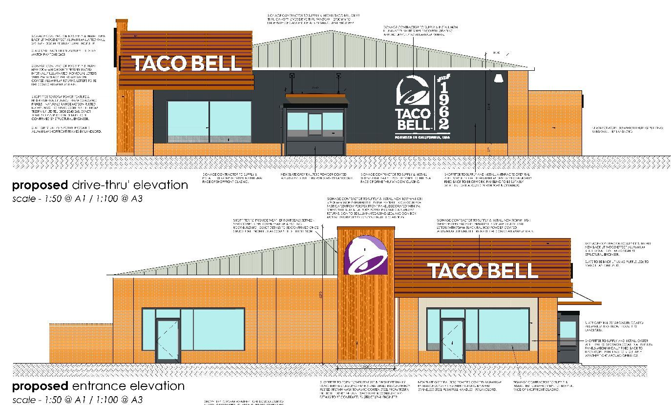 Plans submitted for the new drive-through.