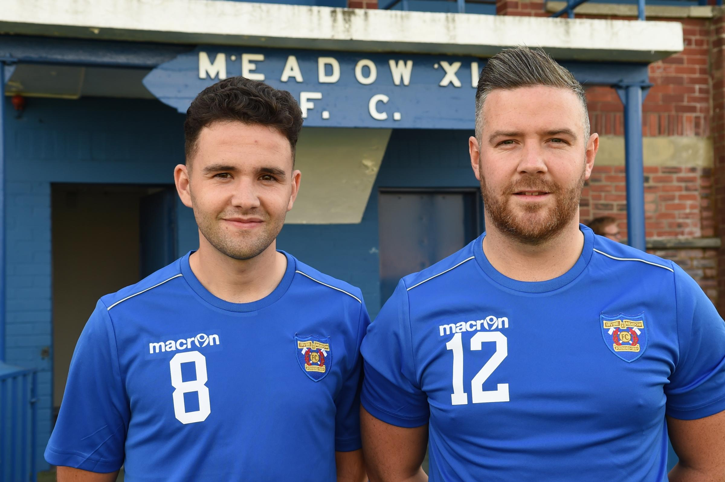 NEW RECRUITS: Mikey White (right) and Andy McLaughlin are on board at Irvine Meadow.