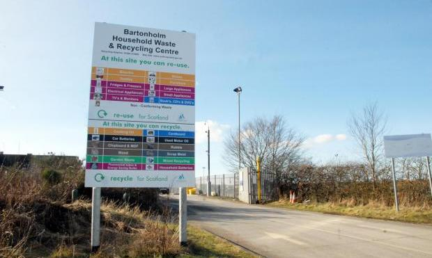 Bartonholm Recycling Centre.