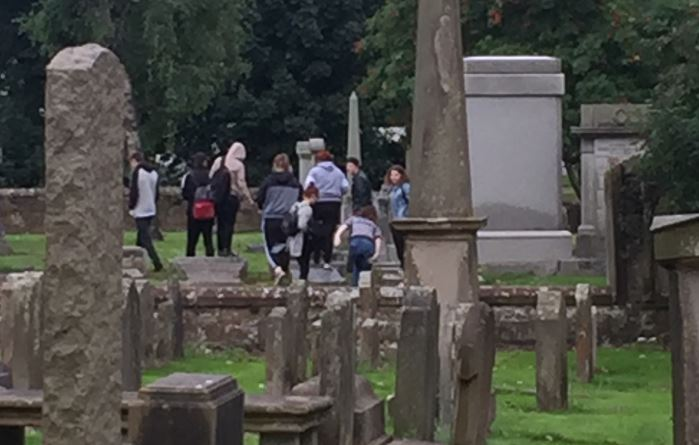 'Shameless' youths start fire and vandalise graves at Old Parish Church