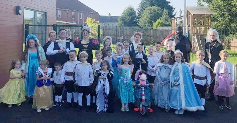 The Fullarton Community dressed up on Marymass Saturday
