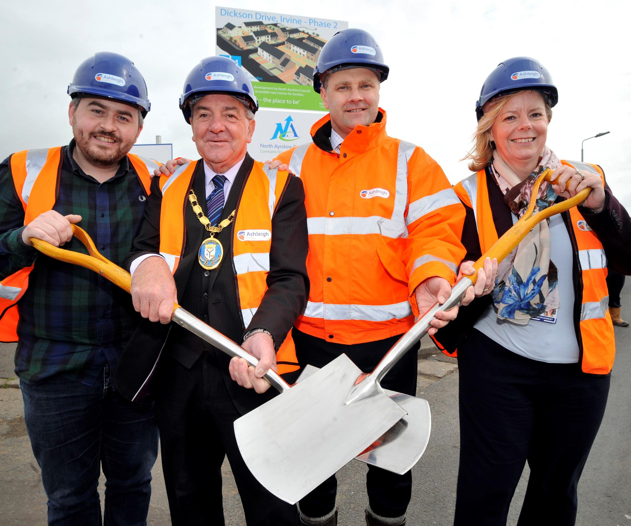 Work kicks off for 24 new council houses in Dickson Drive